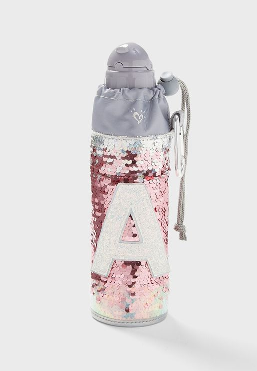 Kids Initial Sleeved Water Bottle