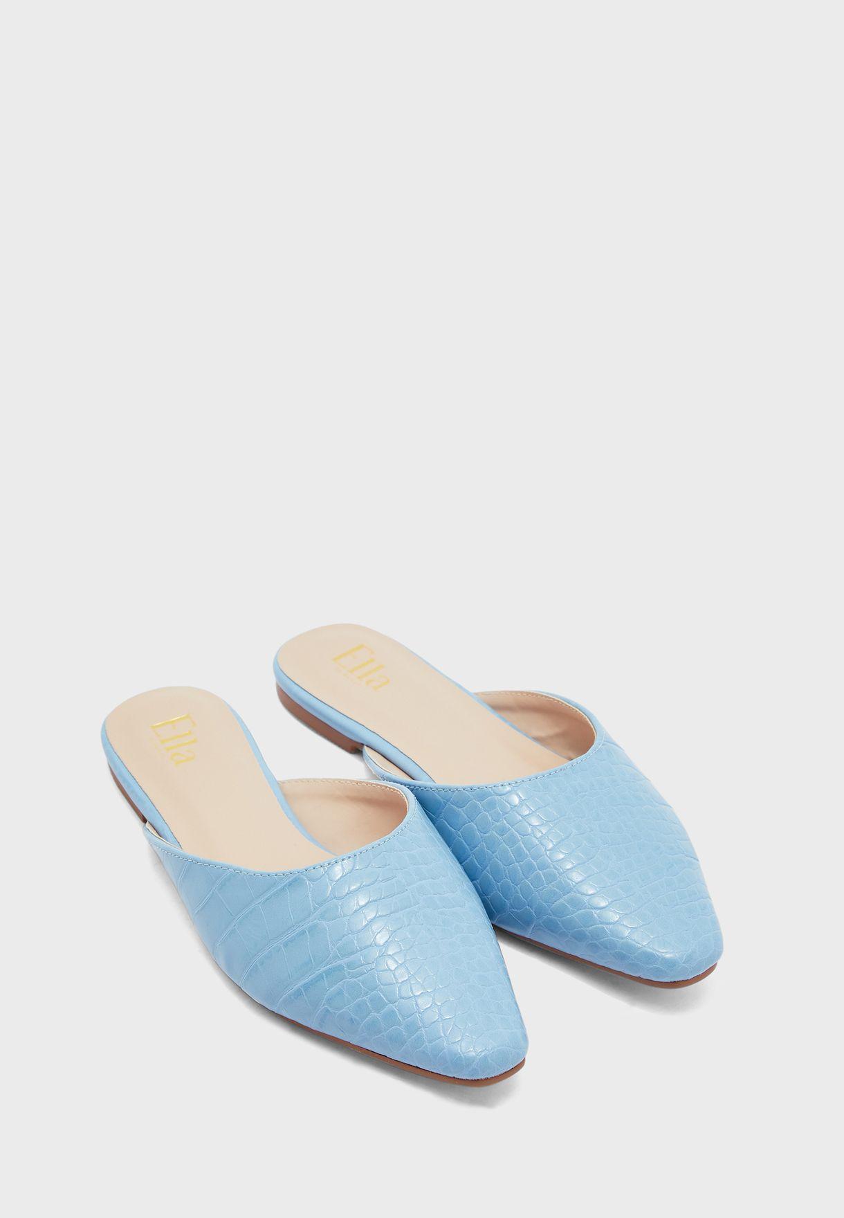 حذاء جلد تمساح سهل الارتداء