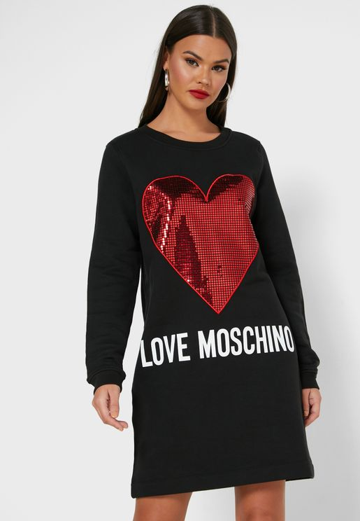 Con St. Cuore Logo Sweat Dress