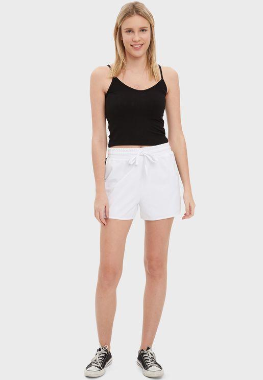 Side Striped Mini Shorts
