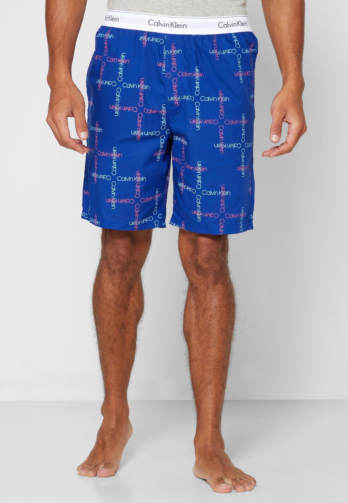Logo Band Printed Shorts