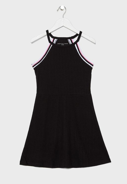 Kids Tipped Rib Dress