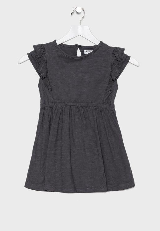 فستان بخصرمطاطي