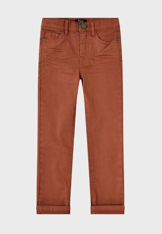 Youth Mid Wash Skinny Fit Jeans