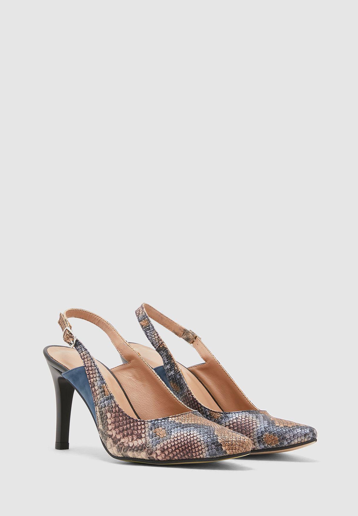Ankle Strap Pump - Snakeskin