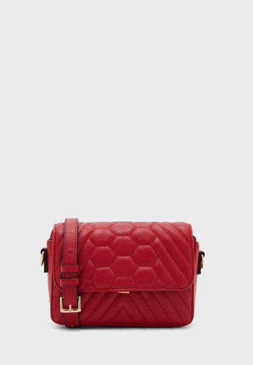 Quilted Flap Over Crossbody
