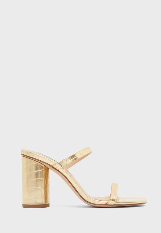 Kato Double Strap High Heel Sandal