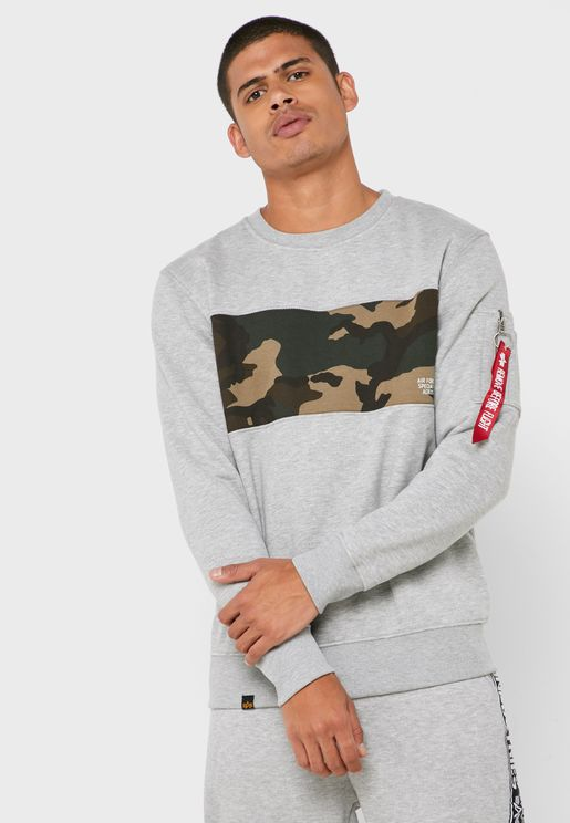 Camo Bar Sweatshirt