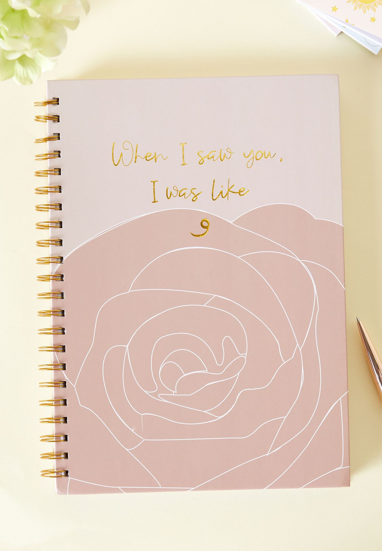 A4 When I Saw You Notebook