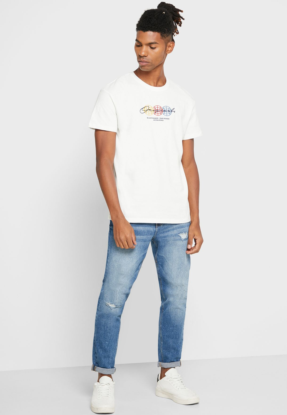 Expanded Relaxed Crew Neck T-Shirt