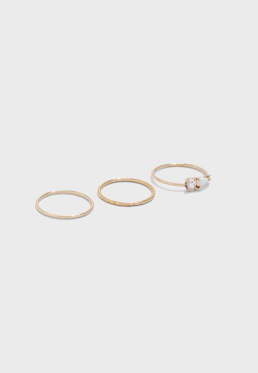Multipack Opal Stone Rings