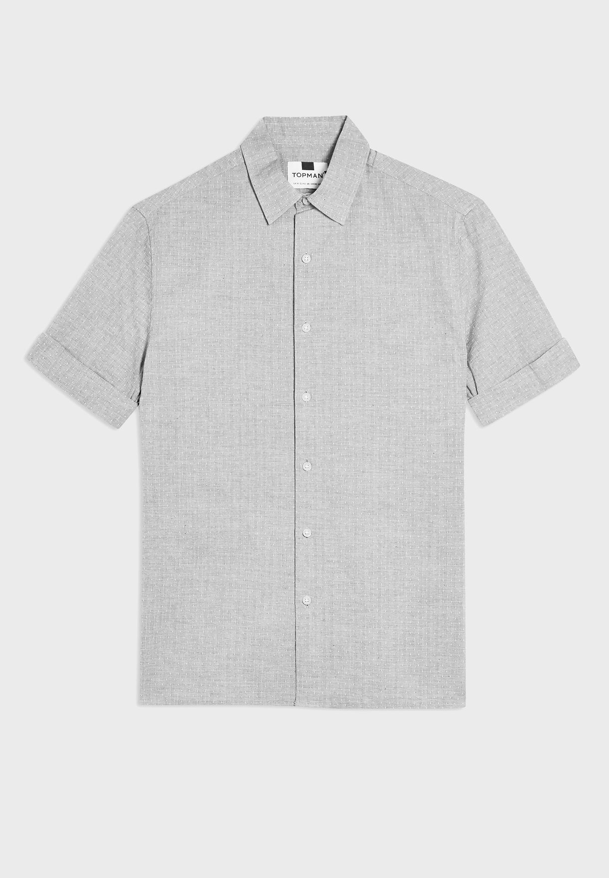 Dot Print Slim Fit Shirt
