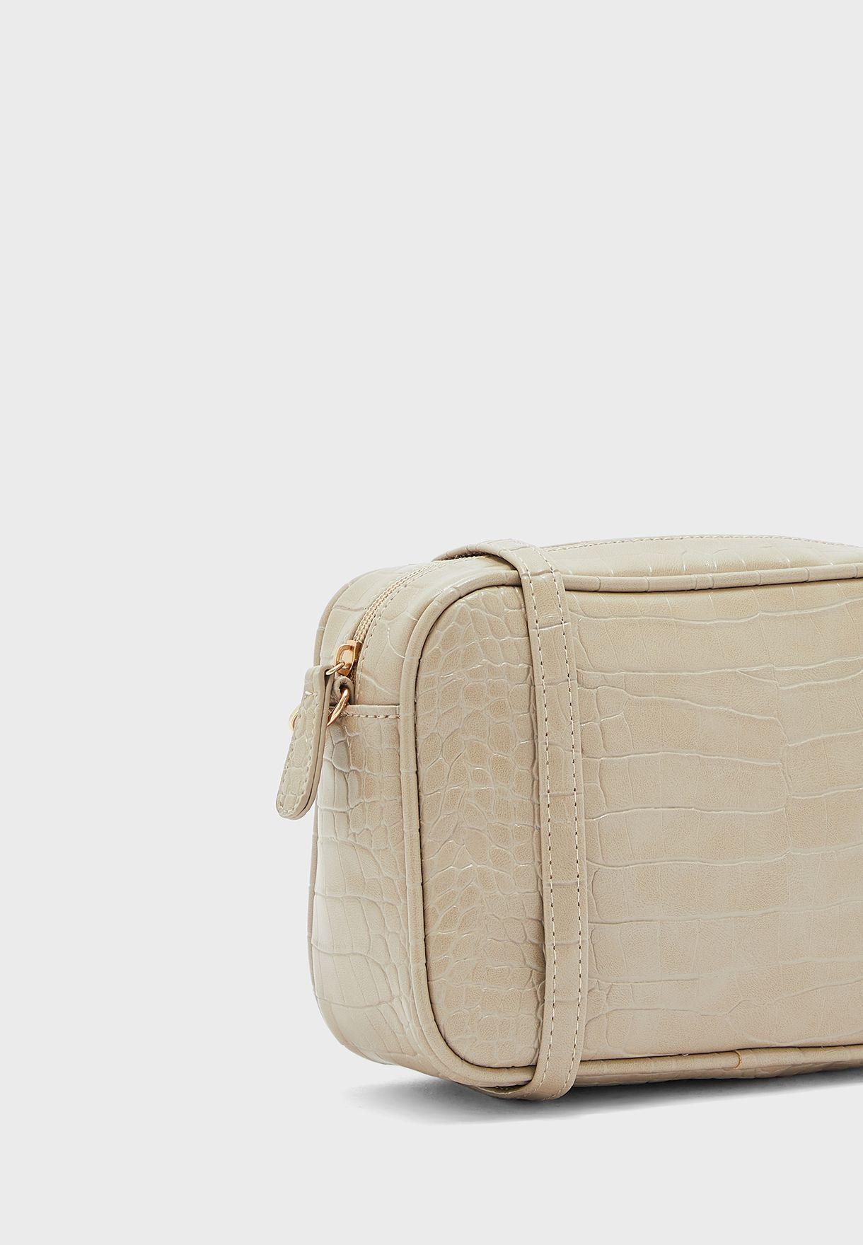 Croc Texture Crossbody Camera Bag