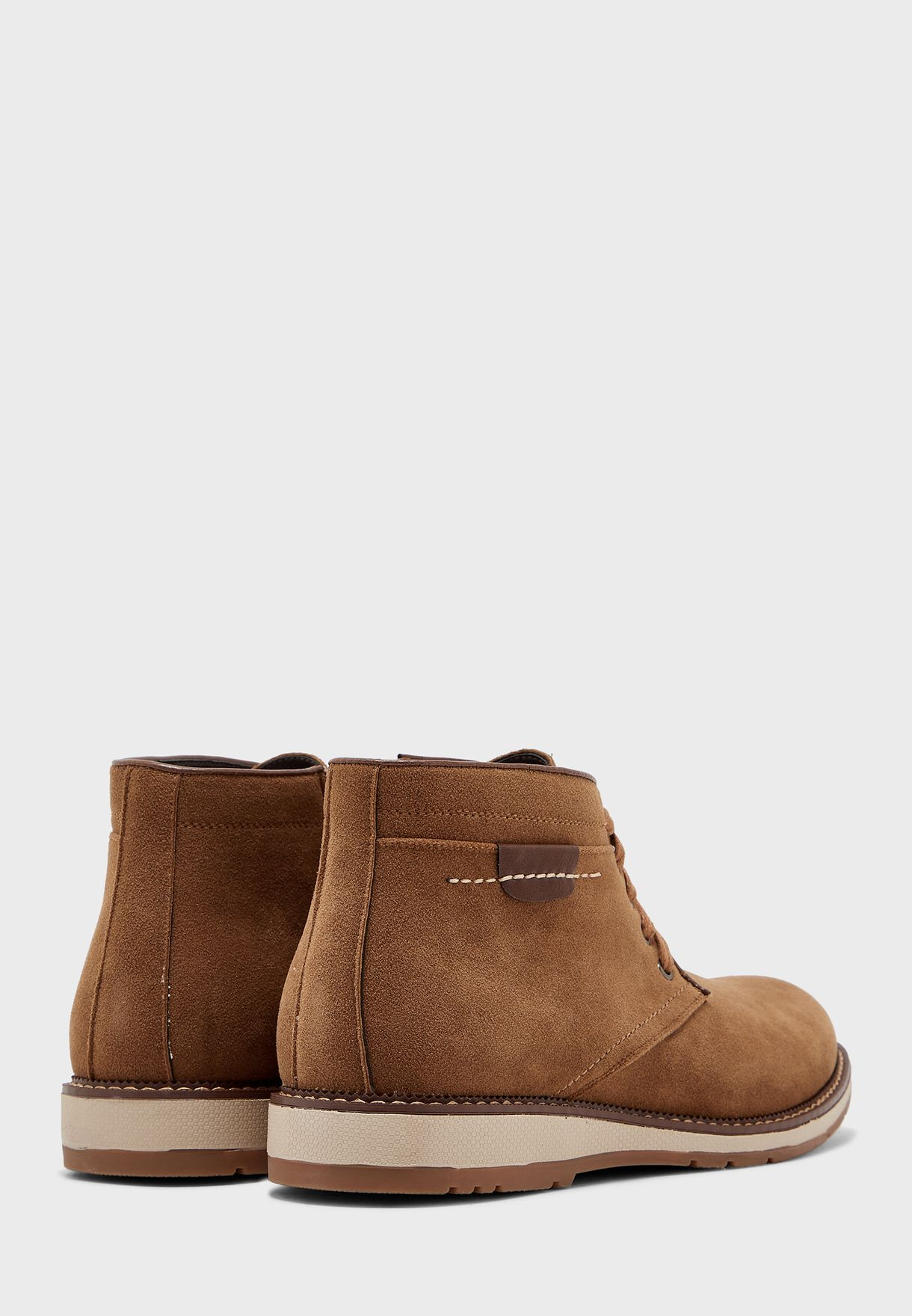Faux Suede Chukka Boots