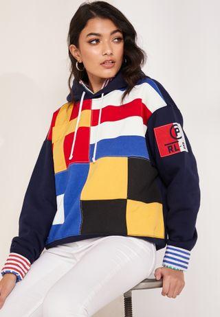 65a02ebaa4f96 Shop Fila multicolor Rita Oversize Hoodie LW183Y55-410 for Women in ...
