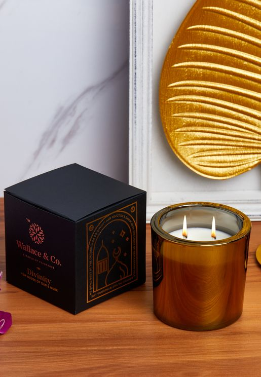 Amber & Oudh Divinity Candle 360Ml