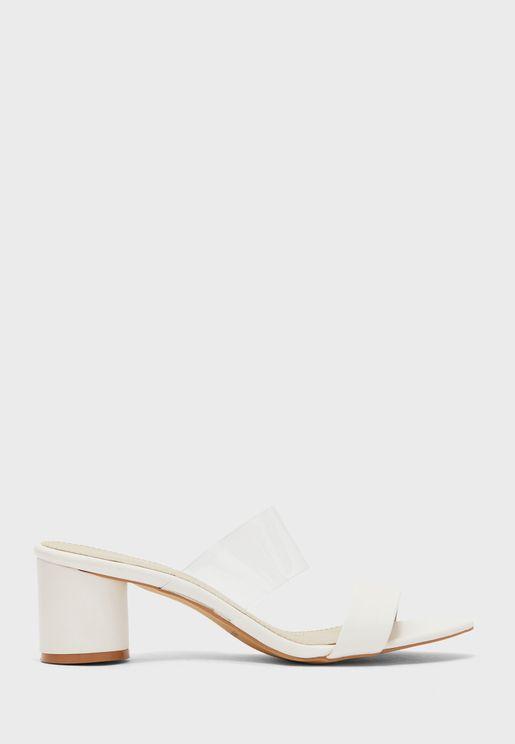 Double Strap Low Heel Sandal