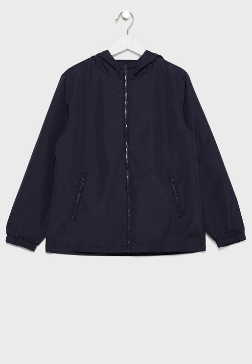Kids Zip Up Hooded Jacket