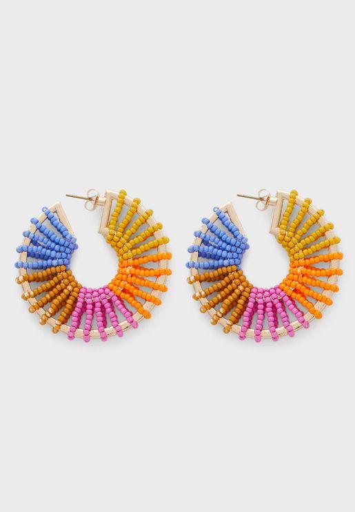 Coloured Hoop Earring