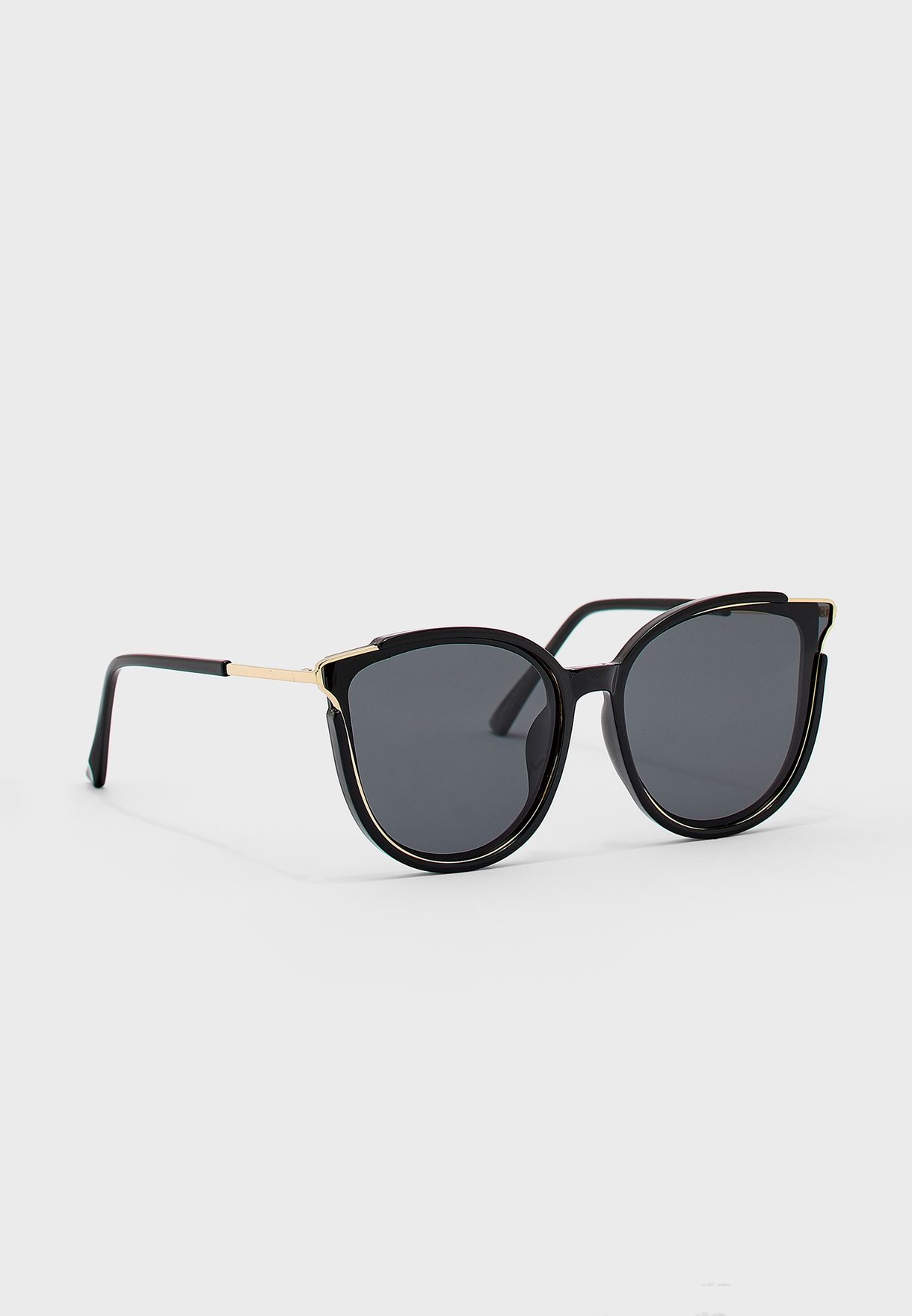 Polarized Cateyes Sunglasses With Gold Trim