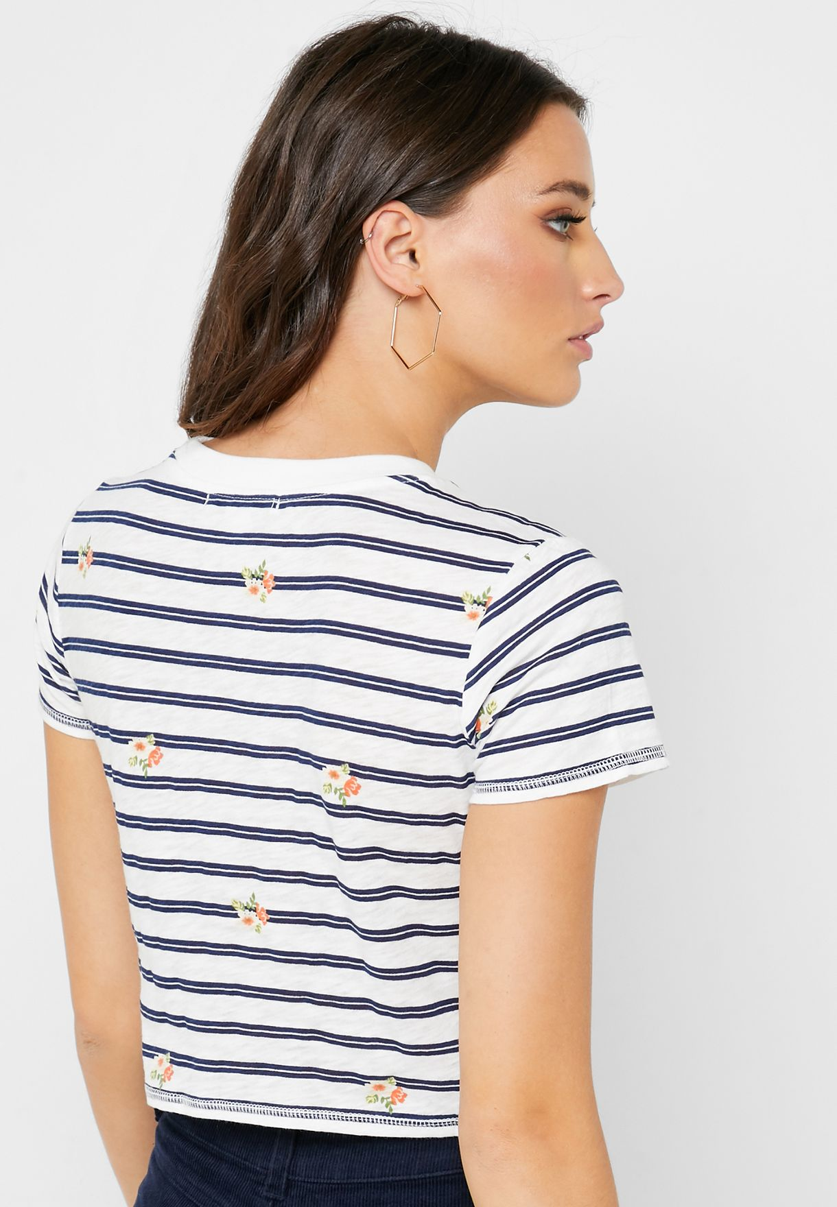 Crew Neck Striped T-Shirt