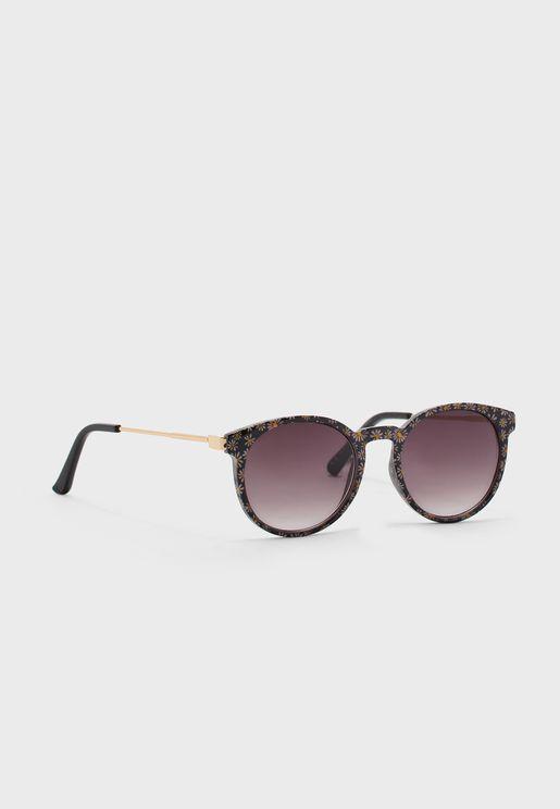 نظارة شمسية بطباعة ازهار