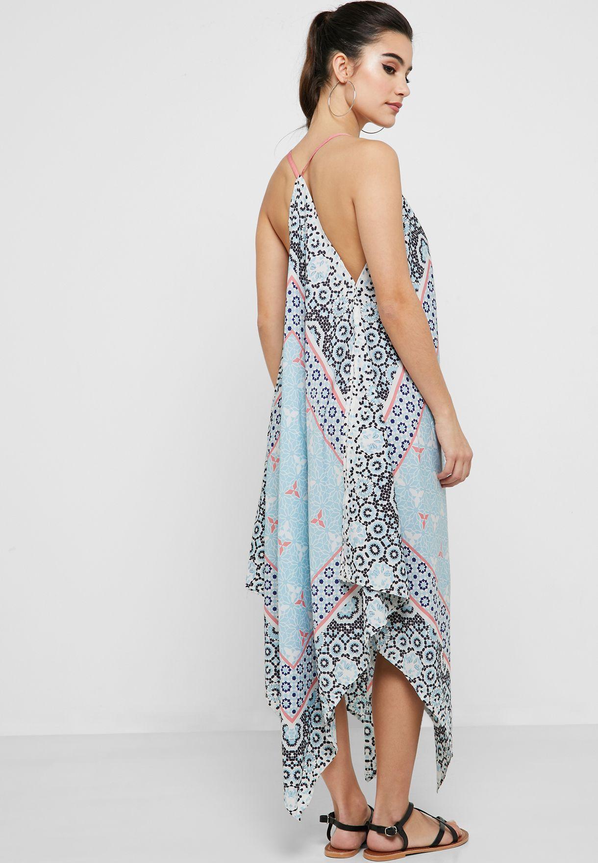 Scarf Print Beach Dress