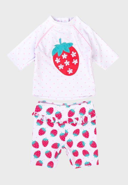 Kids Strawberry 2 Piece Rash Set