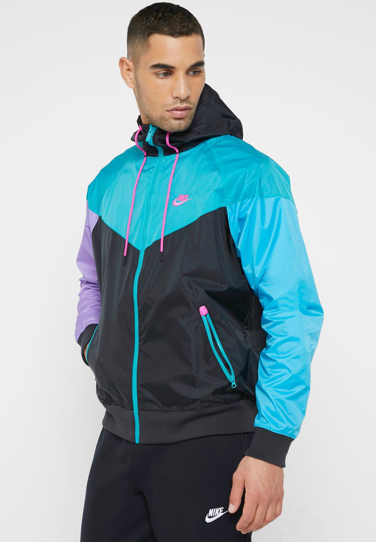 b894b9dd6e Shop Nike multicolor NSW Windrunner Jacket AR2191-012 for Men in UAE ...