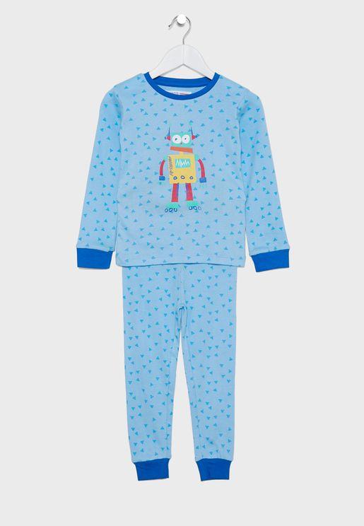 Kids Robot Pyjama Set