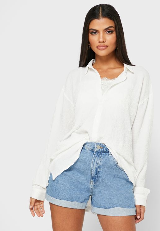 Oversized Crinkle Shirt
