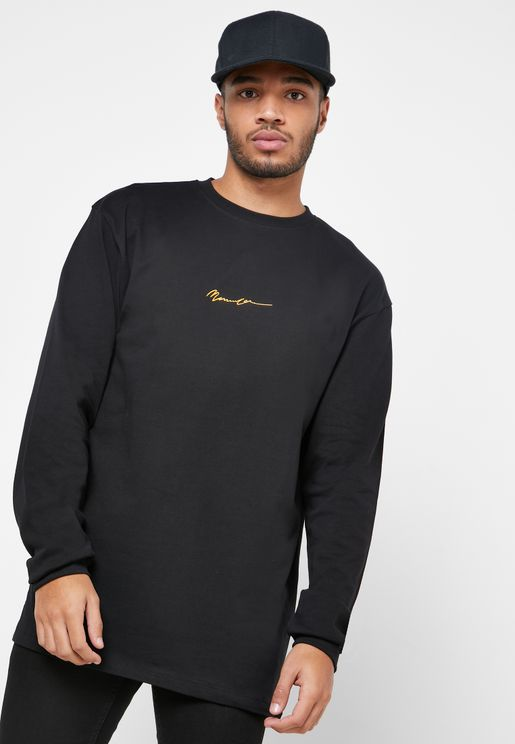 Logo Signature Crew Neck Sweatshirt
