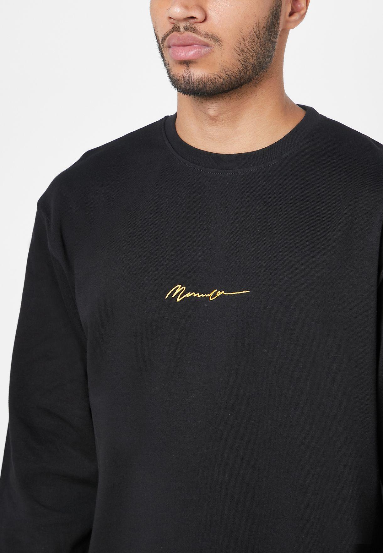 Logo Signature Crew Neck Sweatshirt