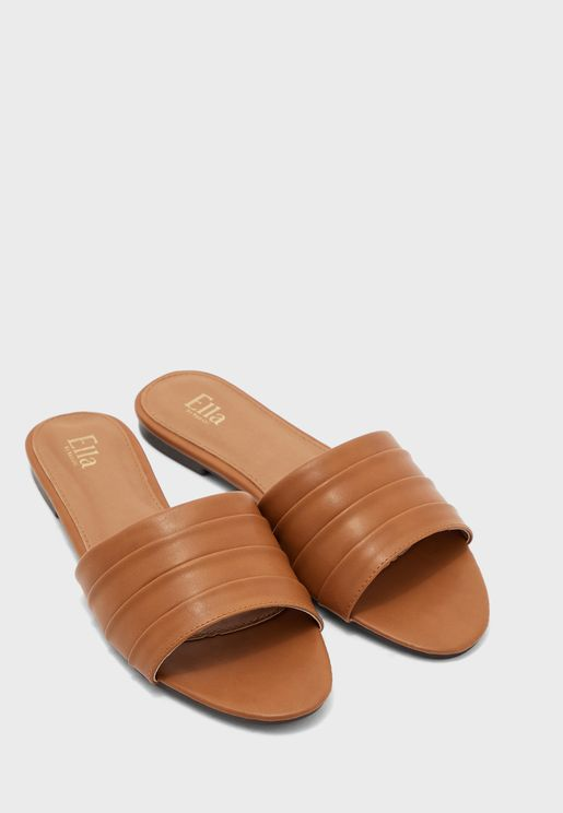 Layered Slip On Flat Sandal