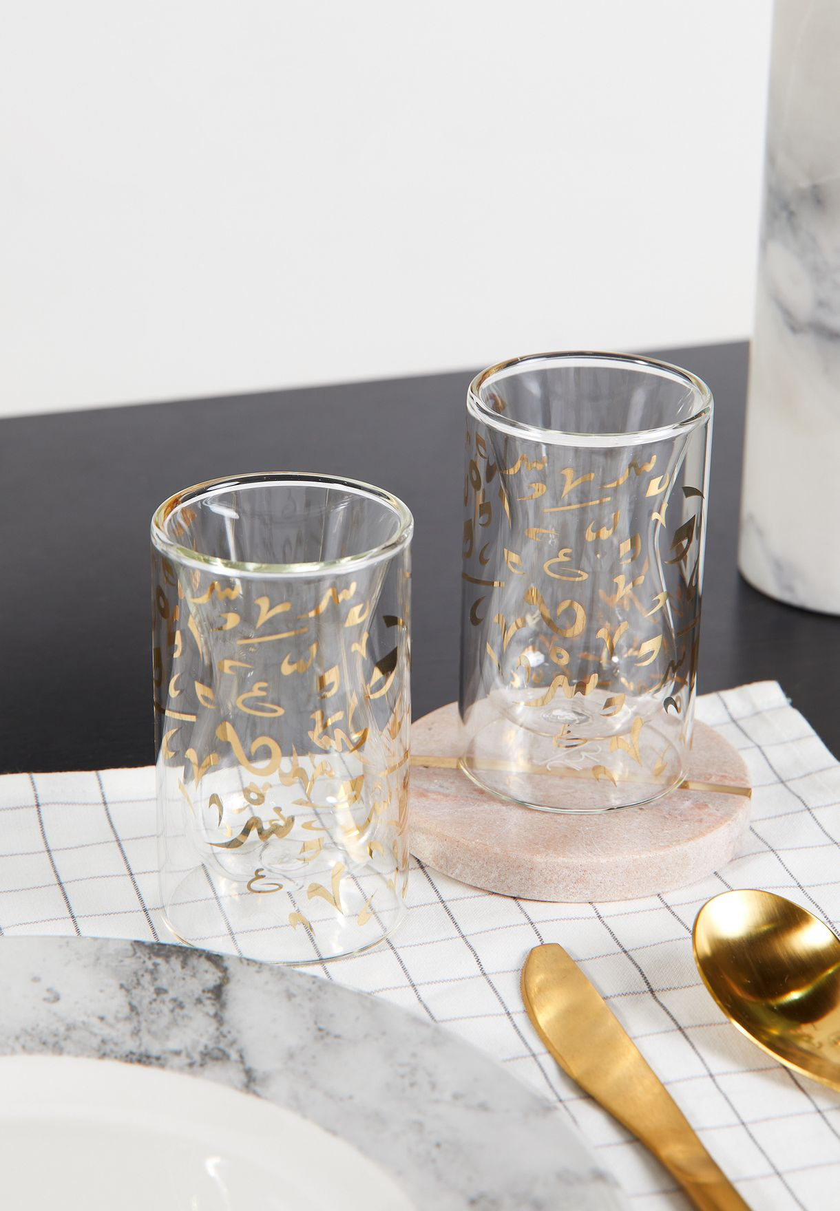 2 Pack Double Walled Istikanah Tea Cup Set