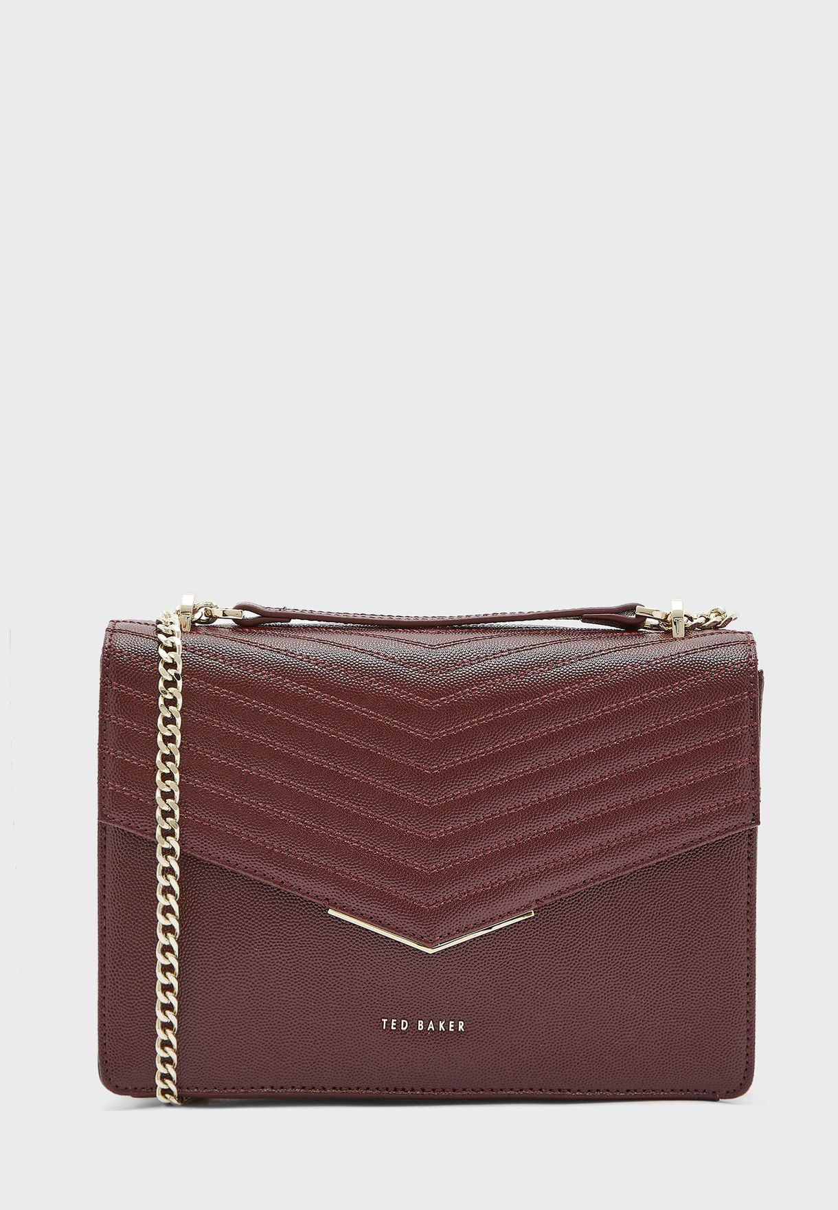 Rosch Patent Quilted Envelope Crossbody
