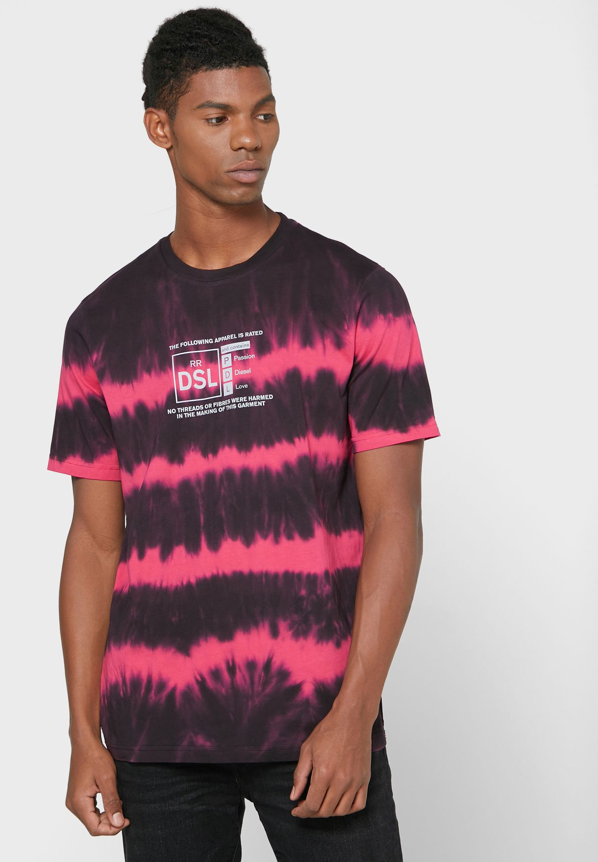 Tie Dye Crew Neck T-Shirt