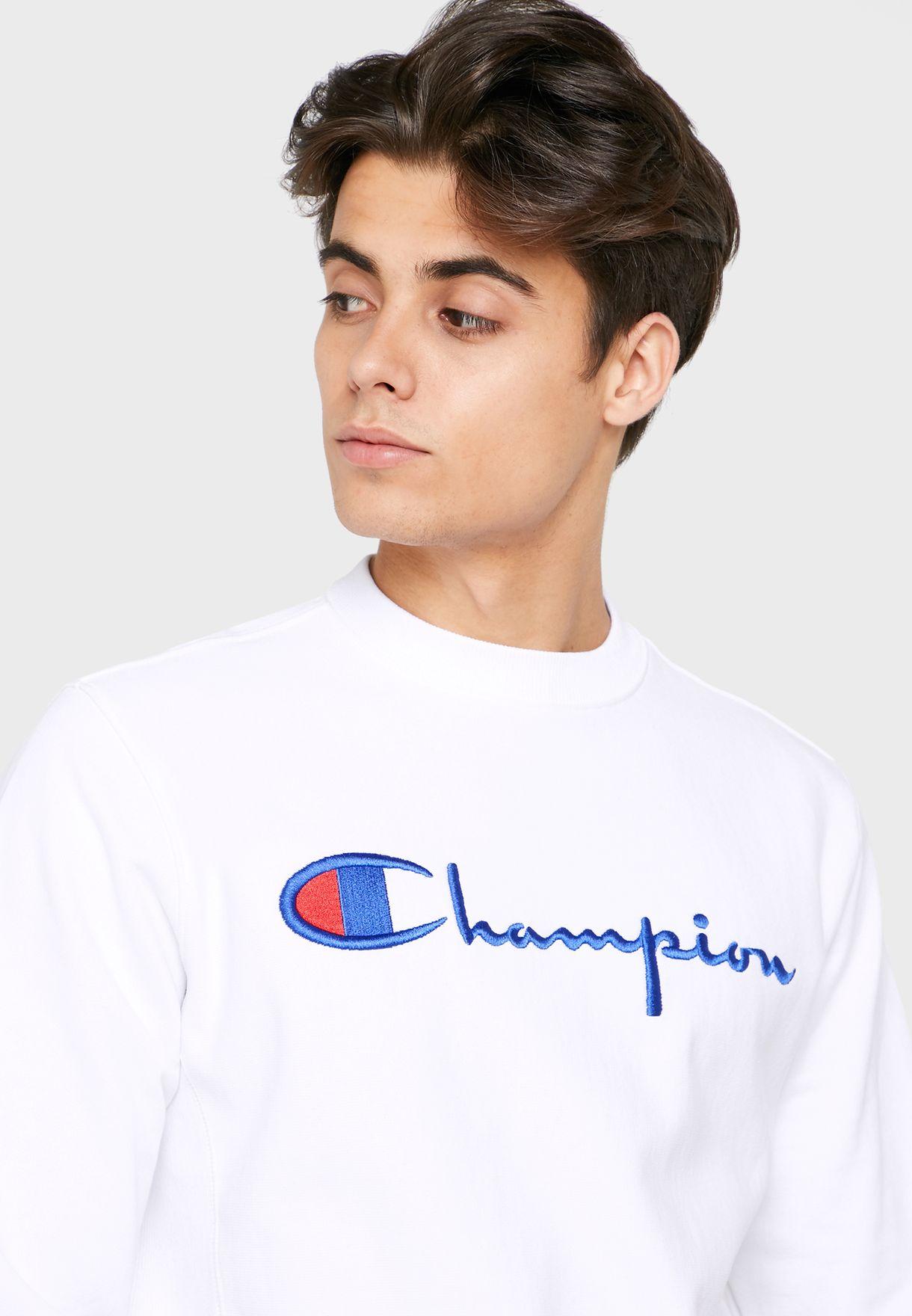 Reverse Weave Script Logo Sweatshirt