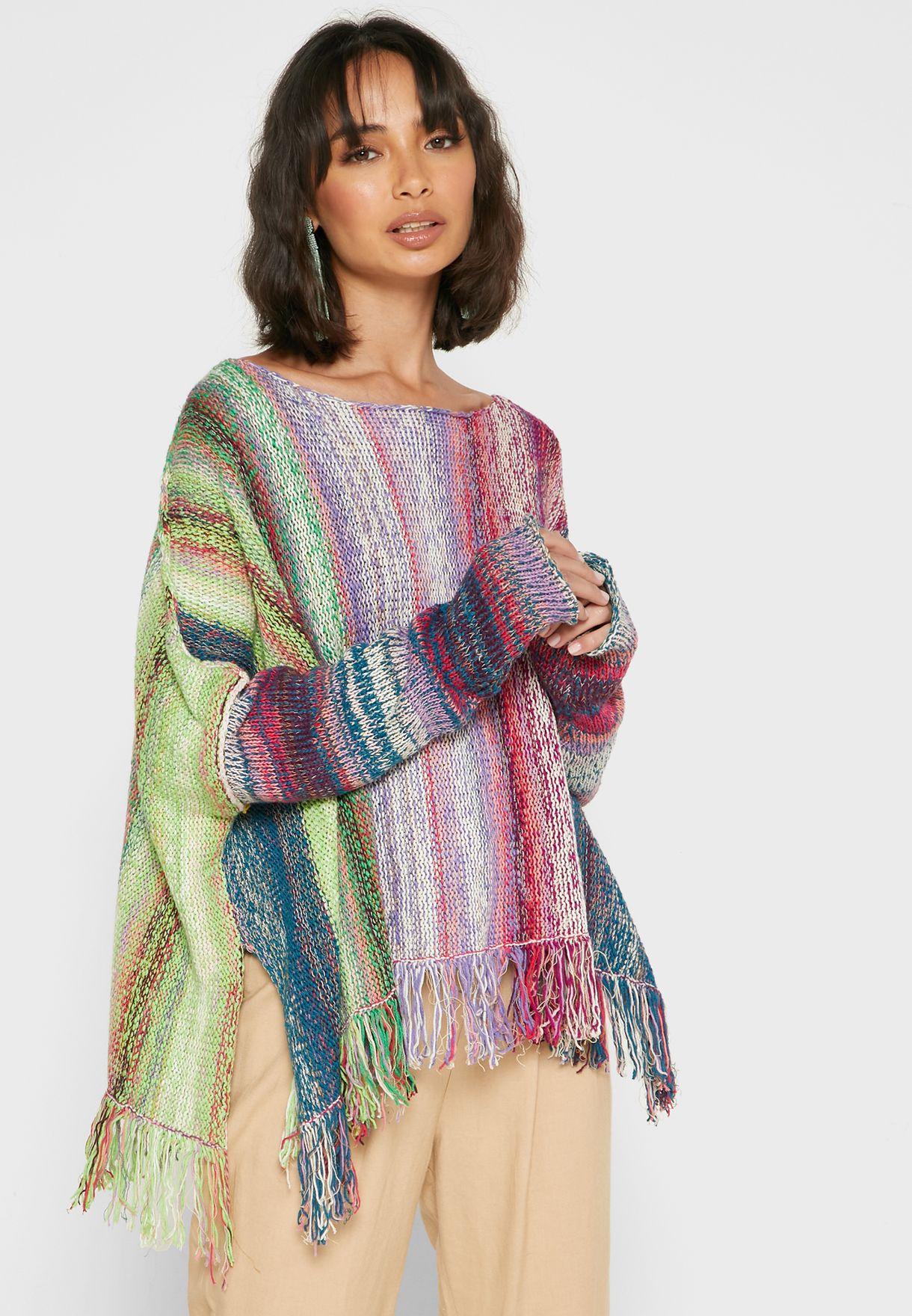 Radiate Fringe Detail Oversized Sweater