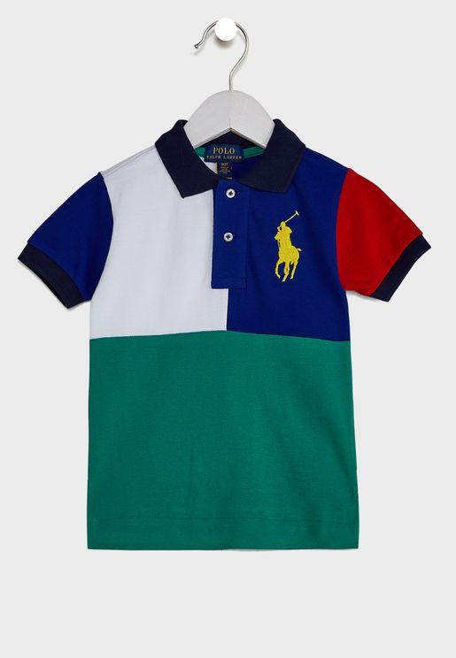 Infant Color Block Polo