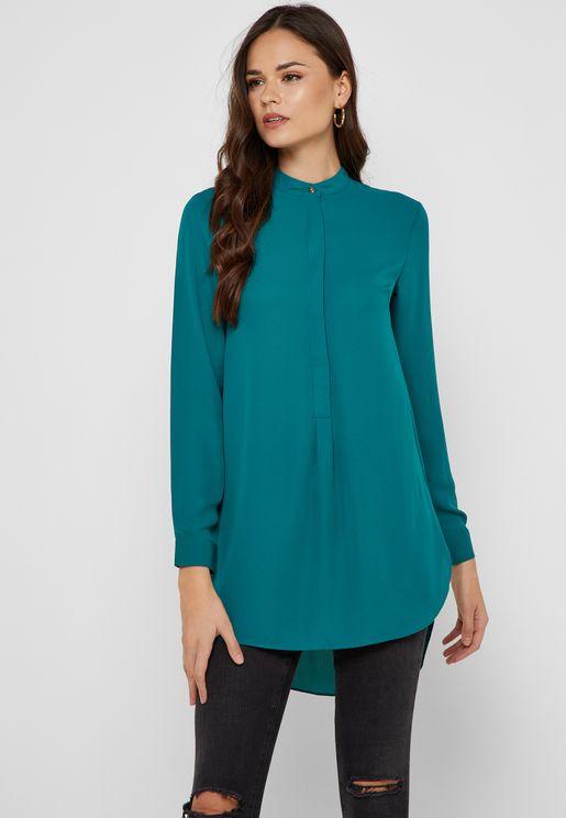 Round Neck Longline Shirt