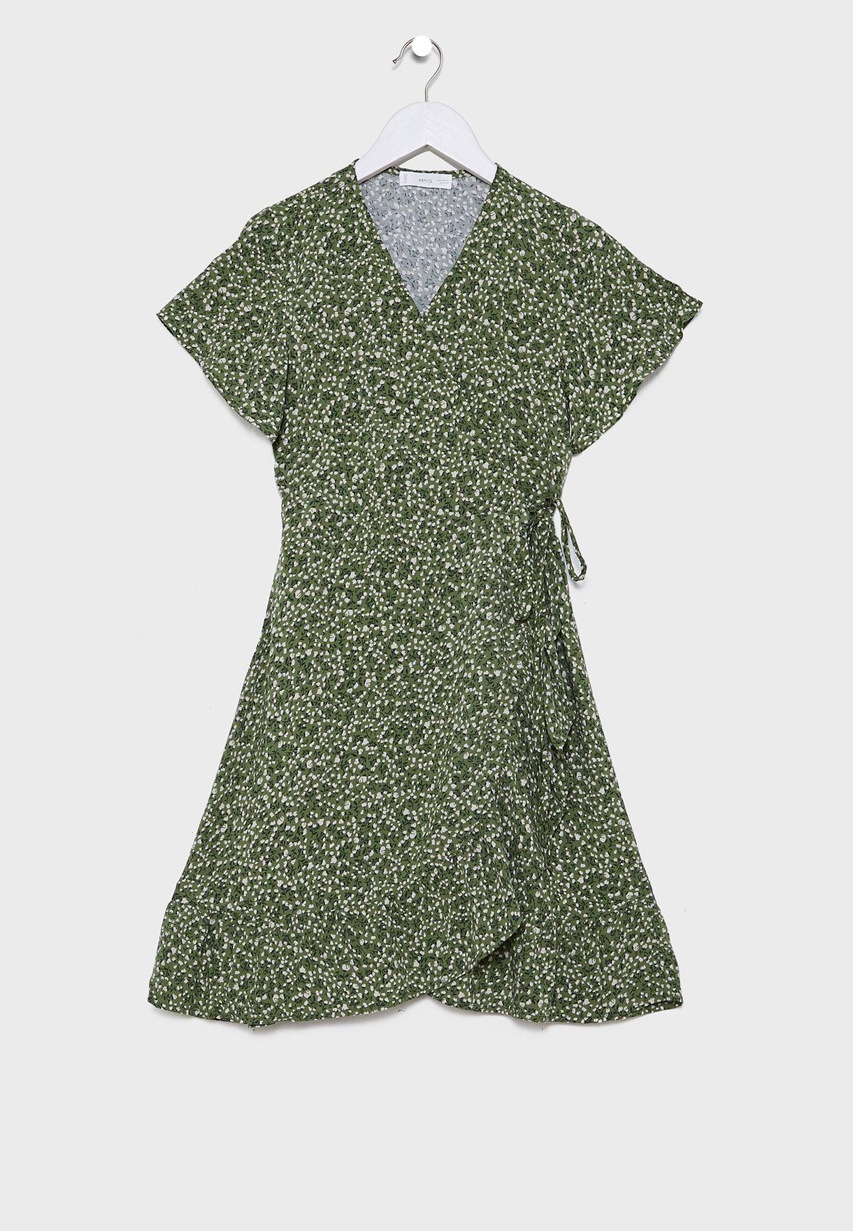 فستان بطباعة زهور للاطفال