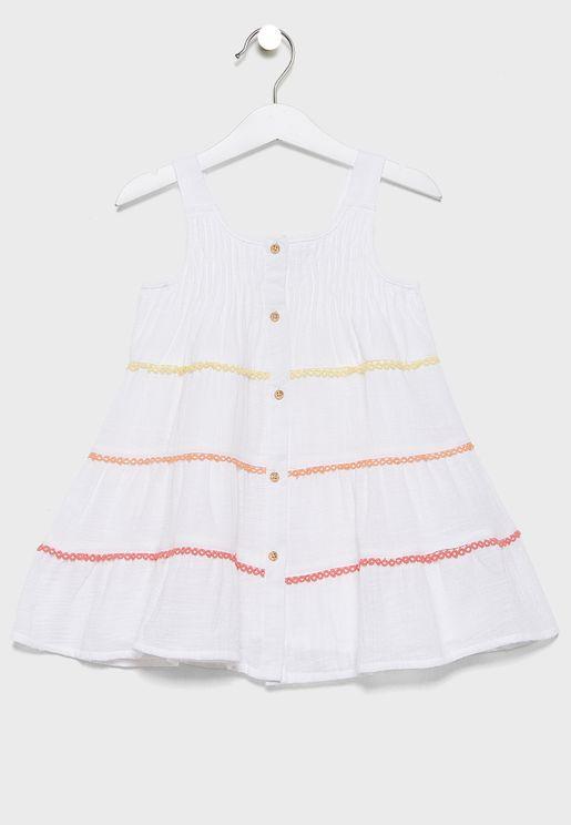 فستان بطبقات دانتيل للاطفال