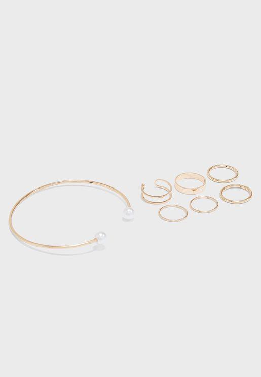 Rings And Bangle Set