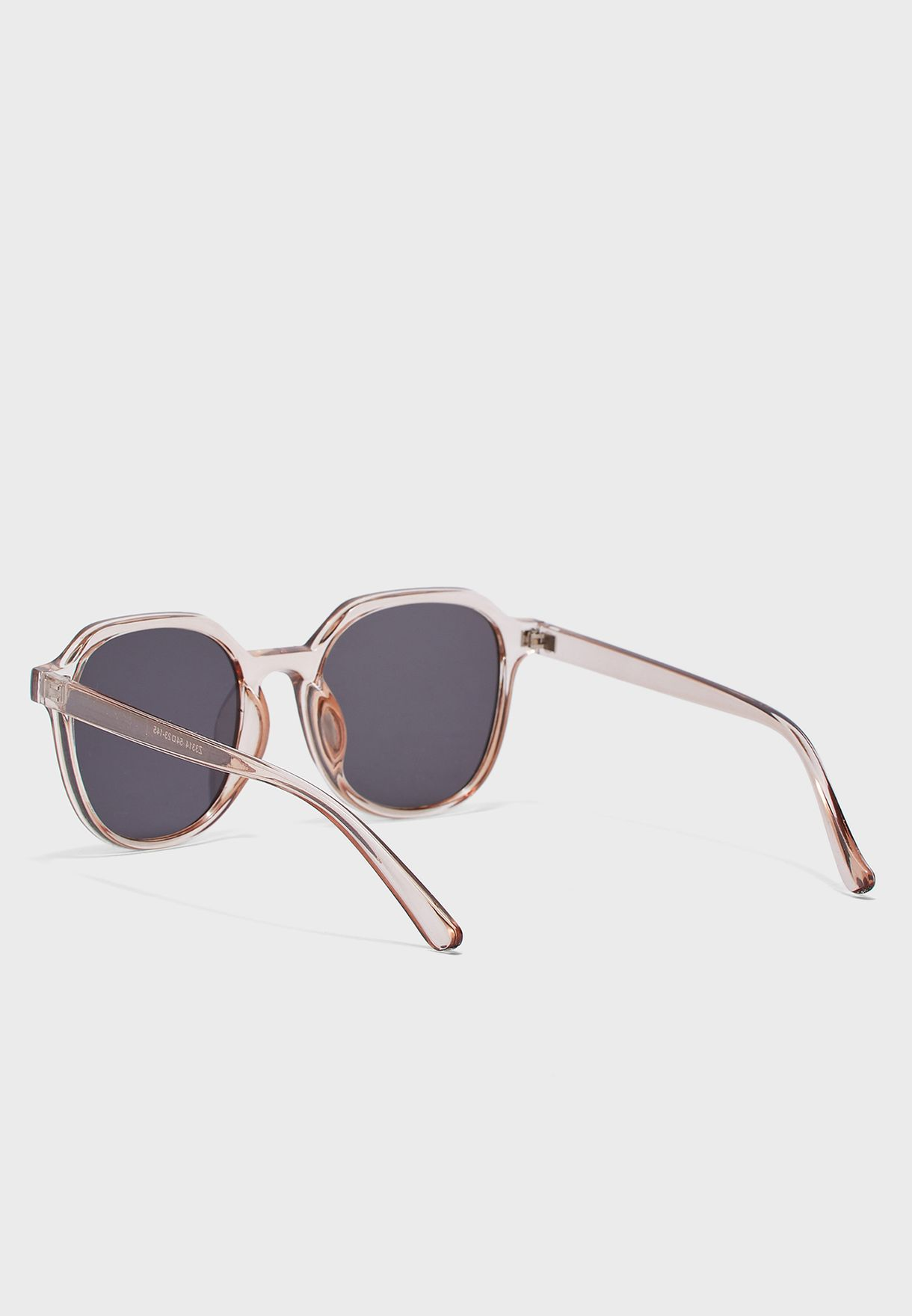 Clear Frame Square Sunglasses
