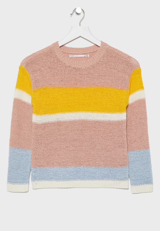 Kids Knitted Stripped Sweater