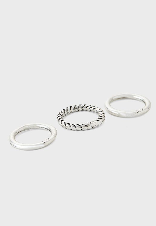 3 Pack Hand Crafted Ring