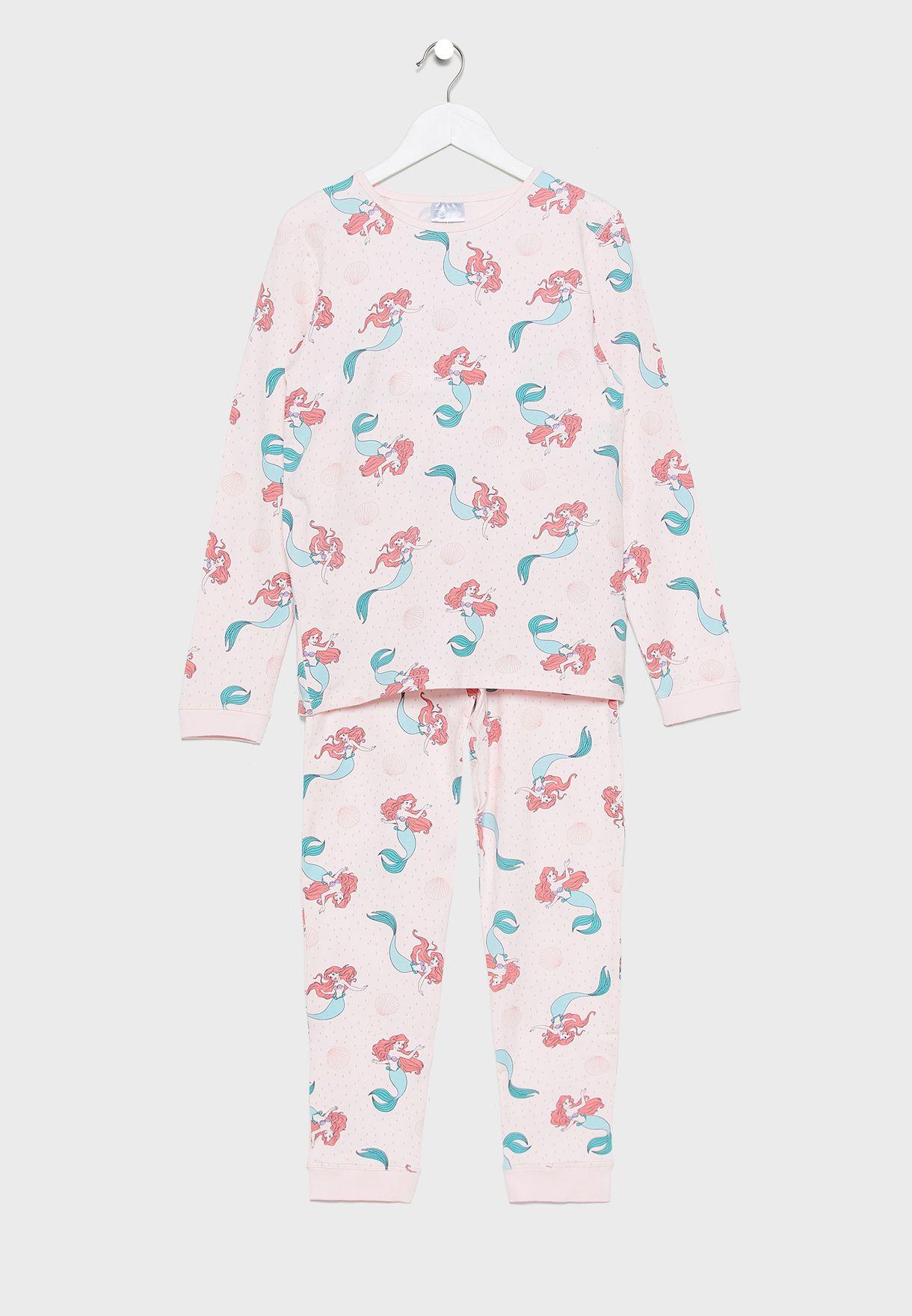 Kids Floral T-Shirt + Pyjama Set