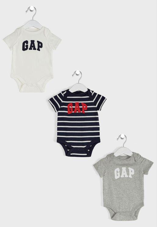 3 Pack Infant Logo Bodysuit