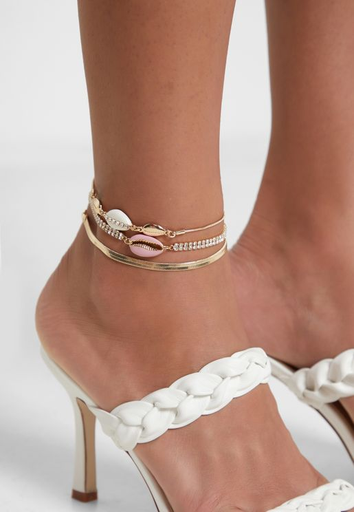 Cupchain Shell Anklet